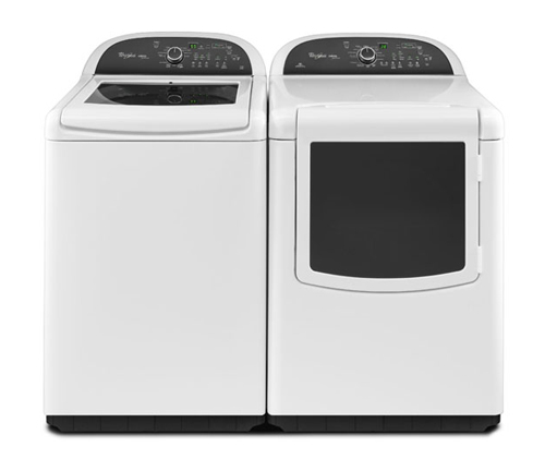 whirlpool platinum 4 cu ft cabrio top load washer and 7 cu ft cabrio electric dryer
